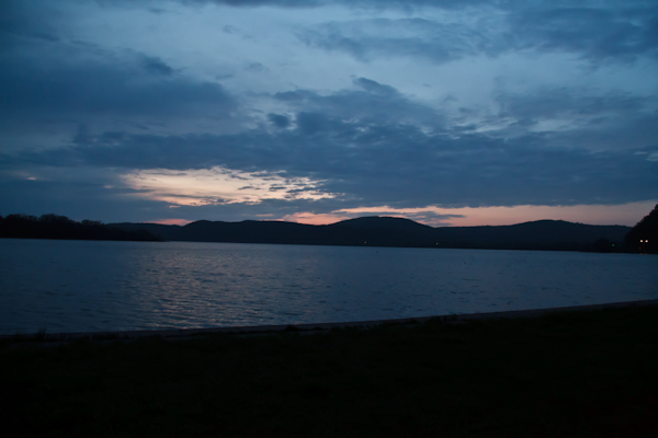 網走湖夕景