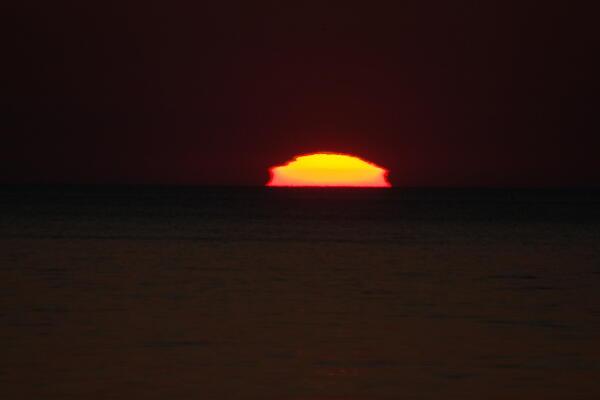 午前3持30分の太陽