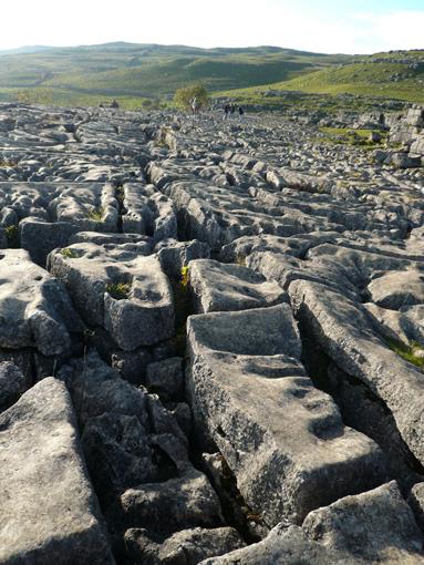 マラムコーブの上に広がる石灰岩の洗濯岩a