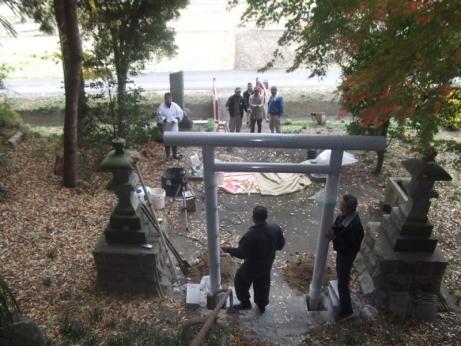 若宮八幡神社作業風景