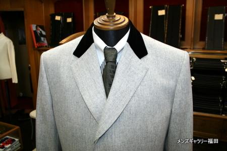 チェスターコートの襟元