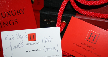 ハリソンズの社長のお名刺
