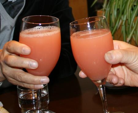 ピンクりんごジュース