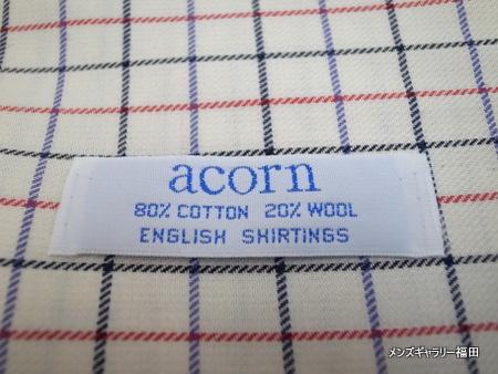 acornのタッタソールシャツ