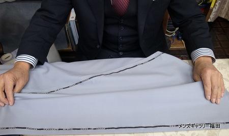 葛利毛織DOMINXのシルバーグレーのサキソニー