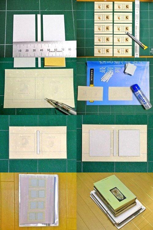 豆本の作り方06.ハードカバーの表紙を作る
