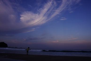 大岐の浜の夕暮れ