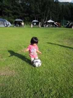 子供もサッカーしたり