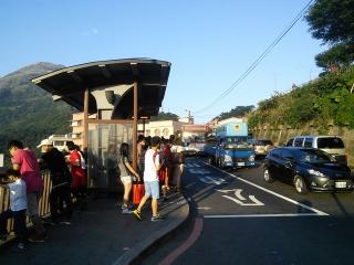 九份の帰りのバス停