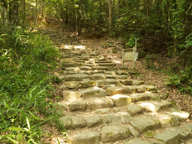 参道 石段