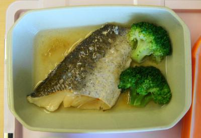 軟食86昼食 白身魚照り煮