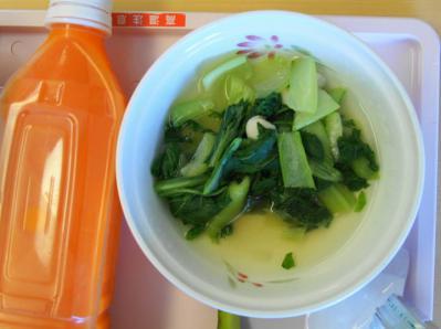 軟食86昼食 小柱と小松菜のくずとじ煮