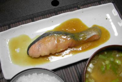 普通食812あ おうちご飯 シャケ幽庵焼き