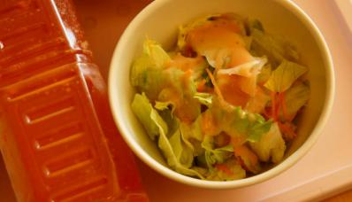 普通食818あ 野菜サラダ・ゲルソンジュース