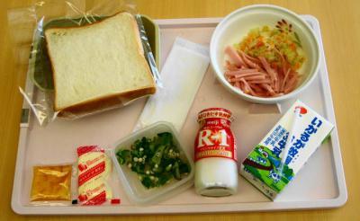 あ9月21日朝食 刻み食パン