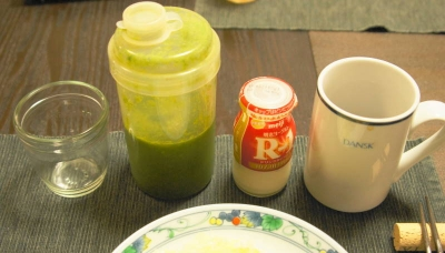 コーヒー&R1ヨーグルト&グリーンジュース