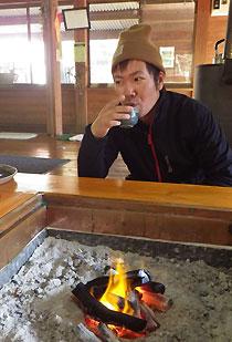 釣りの後は、併設のレストランで暖!!