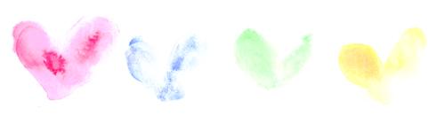 ハートたち 水彩 のコピー