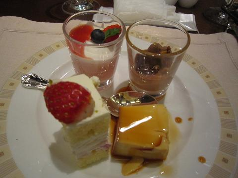 帝国ホテル、デザート