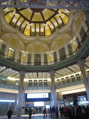 東京駅、ドームの天井