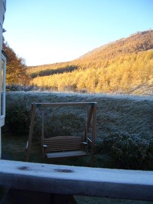 辺りは霜で真っ白!