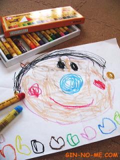 子どもの描いた絵 「おとうと」