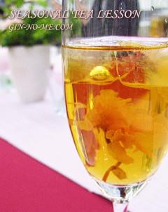 桜のアイスティー 銀の芽紅茶店