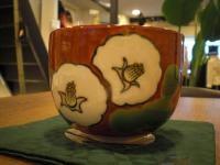 椿 抹茶茶碗