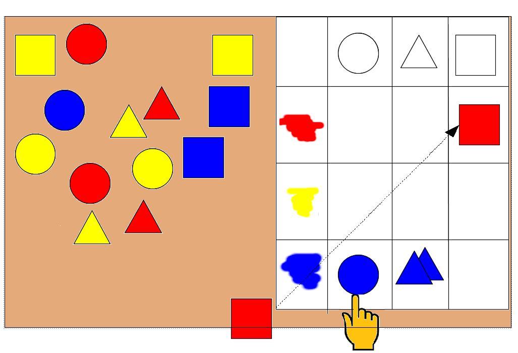色と形の学習教材