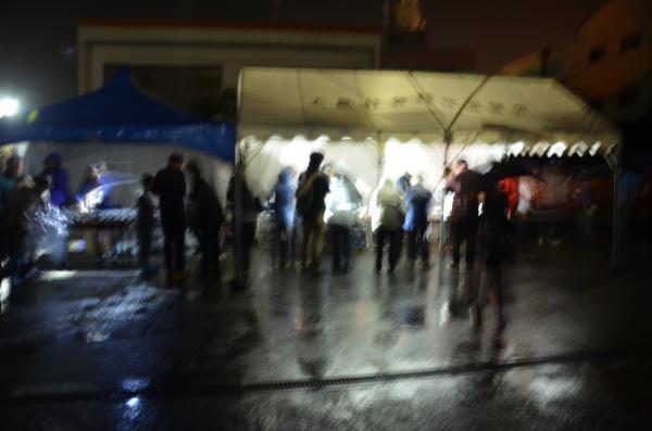 冷たい雨の夜でした