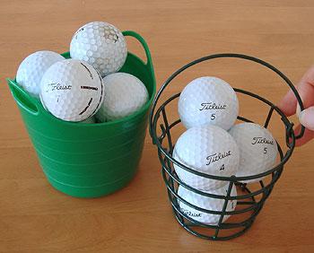 ミニペイルにゴルフボール!