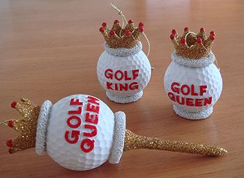 ゴルフボールに王冠、カワイイっす