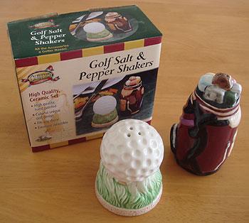 ゴルフボール&バッグ型 塩・胡椒入れ
