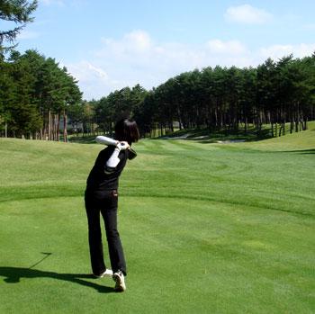 鳴沢ゴルフ倶楽部さんでラウンド