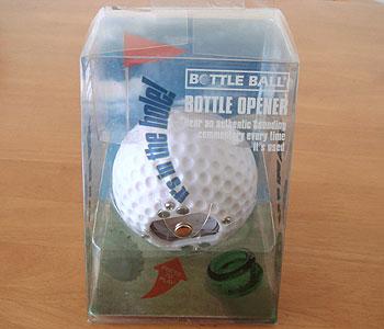 ボトルオープナー ゴルフボール型