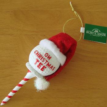 ゴルフボール クリスマス オーナメント
