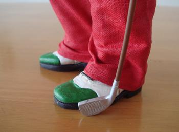 ゴルファー サンタ人形