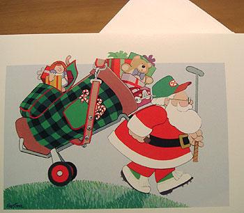 ゴルフ!クリスマスカード