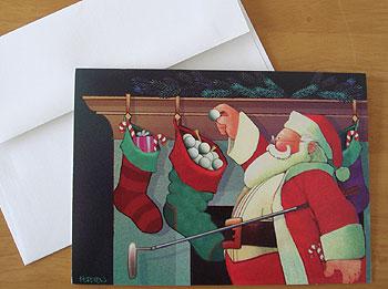 ゴルフ クリスマスカード