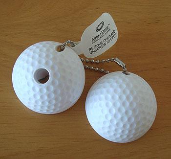 ゴルフボール型鉛筆削りキーホルダー