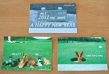 ゴルフ年賀状 2011 うさぎ年!