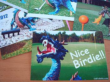 ゴルフ年賀状 2012 18種類を発売します