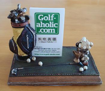 ゴルフモチーフ カードホルダー
