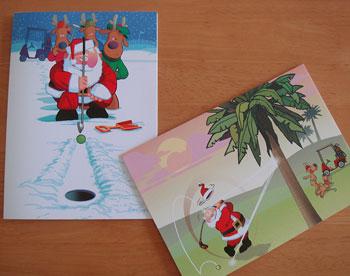 ゴルフ クリスマスカード SALE