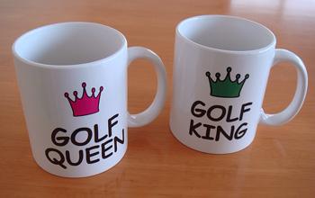 GOLF KING & QUEEN  マグカップ