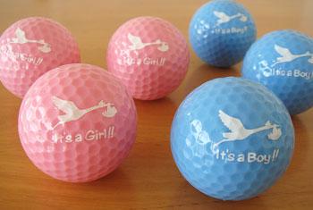ご出産お祝い ゴルフボール