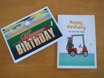 ゴルフ!お誕生日カード
