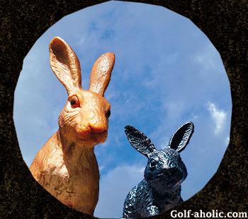 ゴルフ年賀状 2011 うさぎ