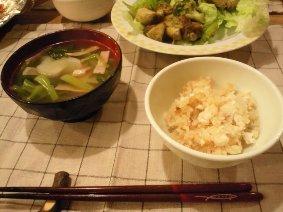 鯛飯とかぶのスープ