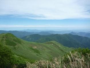 平標山山頂からの景色